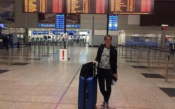 Sandra odletěla do Londýna
